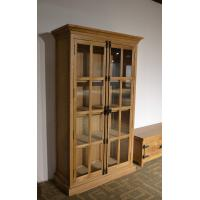 French luxury design coffee shop oak wood floor display cabinet solid wooden cabinet
