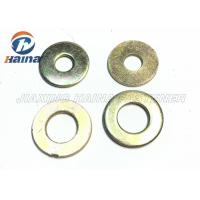 Quality Color Plated Flat Washers Plain Carbon Steel Round Head For Iron Stamping Out for sale