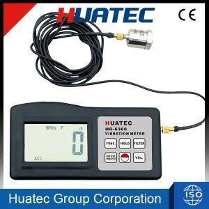 Accuracy Digital Vibration Meter , Portable Vibration Analyzer HG-6360