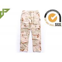 Desert Military Tactical Pants Built In Knee Pads For Security Guard / Police Outdoor Sport