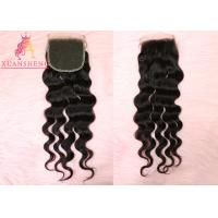 Quality Swiss 4x4 Lace Closure Loose Wave Closure Human Brazilian Hair Weave for sale