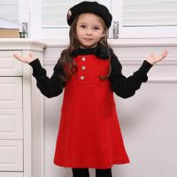 China red girl sleeveless winter dress on sale