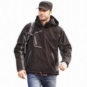 Quality Men's Softshell Jacket, Waterproof, Windbreaker, Fashionable Design for sale