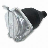 Quality 7-pole Socket with 24V Voltage, Made of Aluminum, Available in Black and White for sale