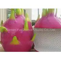 Quality Custom Oversize Fiberglass Dragon Fruit Statues , Custom Fruit Statues Handmade for sale