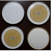 Dome  or Flat Custom Coffee Cup Lids for Paper Cups , PET / PS / Paper Material