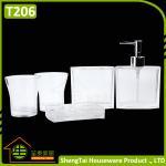 Quality Elegant European Design Popular White Transparent Bath Gift Set for sale