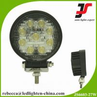 China 4 inch round led work lamp 27w led work light for trucks on sale