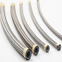 China DN13 Stainless Steel Cover Smooth PTFE Hose for Oil / Coolant on sale