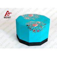 Buy cheap Blue Lid & Black Base Cardboard Food Packaging Boxes , Decorative Cardboard Boxes With Lids from Wholesalers