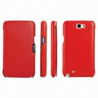 Quality Leather Phone Case with Card Slot Inside, Suitable for Samsung Galaxy Note2/N7100 for sale
