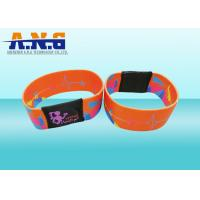 Quality Mifare 1k Printing elastic fabric rfid wristband bracelet for waterpark for sale