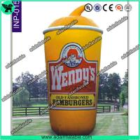 Quality 5m Oxford Cloth Outdoor Giant Inflatable Cup Model with Print for Promotional for sale