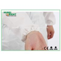 Buy Type 5 / 6 Disposable Coveralls with Hood Splash Proof SMS Chemical Coveralls at wholesale prices