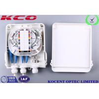 Quality KCO-FDB-8C Outdoor Waterproof 8 Cores Fiber Optic Splitter Box ABS + PC FTTH FTTB for sale