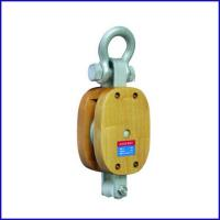 China B048 US Type Regular Wood Block Single Sheave With Shackle, shackle block for sale