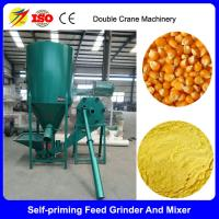 China Farm used vertical type feed mixer and grinder for chicken feed on sale
