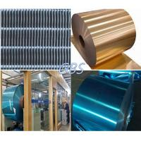 Quality golden aluminium finstock , application of heater, evaporators, cooling machines for sale
