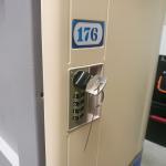 Quality Vandal Resistant  ABS Plastic Locker 4 Tier Beige Door Gray Body For Factory for sale