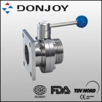 Single Flanged Single Threaded Butterfly Valve