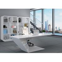 Quality Elegant Manager Office Furniture Creative Special Shape With White Baking Paint for sale