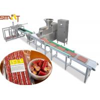 Quality 100 - 300kg / H Auto Meat Strip Traying System With Two Layers Belts Design for sale
