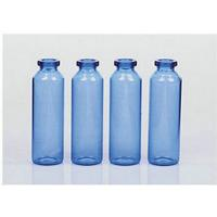 Buy Blue 100ml Man Square Perfume Glass Bottle / Smaal Glass Vial For Car Decoration at wholesale prices