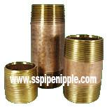 Quality High Performance Brass Pipe Nipple For  Construction Commercial Plumbing for sale