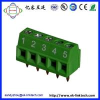 Quality Zhejiang factory F33-1-3.81 Pitch3.81mm Terminal Blocks PCB Rising Clamp green for sale