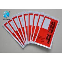 Quality Customized America flag Self adhesive Pressure Sensitive Packing list Envelopes for sale