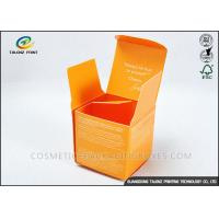 Quality Custom Orange Foldable Cosmetic Packaging Boxes For Cosmetic Skincare Cream for sale