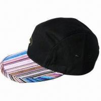 Quality Sports Cap, Made of Cotton and Jacquard Striped Fabric, Measures 58cm for sale