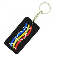 China Durable Soft PVC Key Chain  Custom Design Shape PVC Rubber Keychain for sale