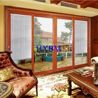 Quality 3.0mm Aluminum Profile Aluminum Sliding Patio Doors With 6mm Tempered Clear Glass for sale