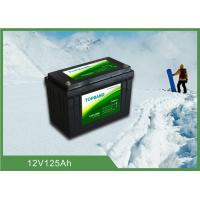 Quality Durable Lithium Iron Phosphate Lifepo4 Batteries 12V 125ah With Low Temp Function for sale