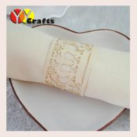china gold crown wedding napkin rings customed paper crafts 250g pearl