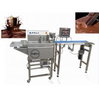 Quality 380V Chocolate Bar Production Line / Commercial Hot Chocolate Coating Machine for sale