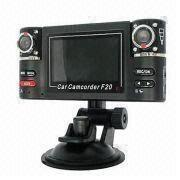Buy cheap CE FCC Cycle Recording HDMI 2.4 inch LCD Dual Channel Car Camera Built in from wholesalers