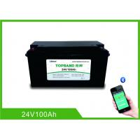 Quality Bluetooth Rechargeable Lithium Iron Phosphate Battery 24V 100AH Nano LiFePO4 Material for sale