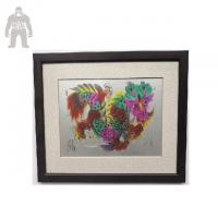 Quality Modern Framed Wall Art For Living Room Hand Work Wall Hanging Enamel Printing for sale