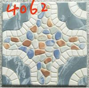 Buy cheap Building 400x400 Floor Tiles , Decorative Blue Rustic 400mm Floor Tiles from wholesalers