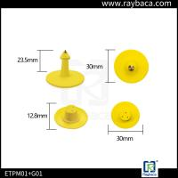 Quality Round Shape Pig Ear Tag Yellow Colour Small Size Custom Ear Tags For Goats for sale