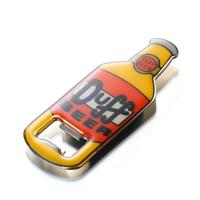China 3D Surface Bottle Shaped Metal  Bottle Opener With Epoxy Resin Cover Eco Friendly on sale