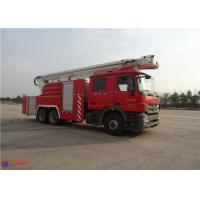 High Strength Telescopic Crane Fire Fighting Vehicles , Heavy Duty Fire Truck Leg Action Time ≤40s