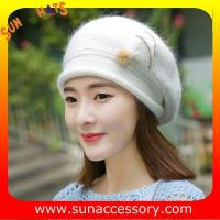 Quality QF17002  Sun Accessory customized fashion knitted beanie hats for ladies  ,Hats in stock MOQ only 3 pcs for sale