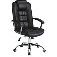 Quality Custom Made High Back Executive Leather Office Chair Lumbar Support Anti - Mildew for sale