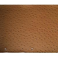China Coffee Printing Faux Ostrich Leather Fabric For Handbags With EN71 - 3 on sale