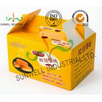 Quality Custom Printed Foldable Cardboard Food Packaging Boxes For Cup Cake / Dessert Packing for sale