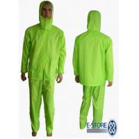 Quality PVC Polyester Heavy Duty Raincoat , Raingear for sale