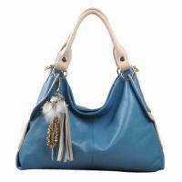 Quality Tassel Genuine Leather Bag, Available in Blue for sale